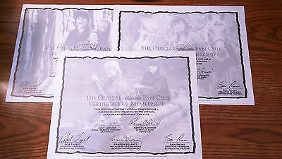 3 Xena & Gabrielle 10 x 8 Official Genuine Fan Club Membership Papers/Pictures