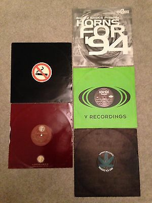 5 X Premium Jungle DnB 1994/5 Original Vinyl Records Oldskool