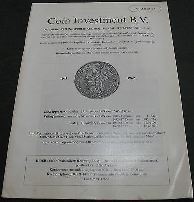 Coin Investment B.V. Catalogue 34 Public Auction 1989 Scarce