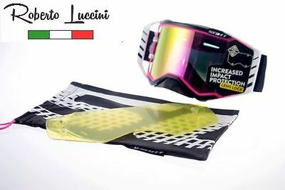 Brille Scott Prospect Black Pink / Lens Purple Chrome Limited Motocross Enduro
