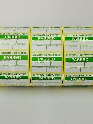 1000 PAT Test/Testing Electrical PASSED Labels / Stickers FREE P+P