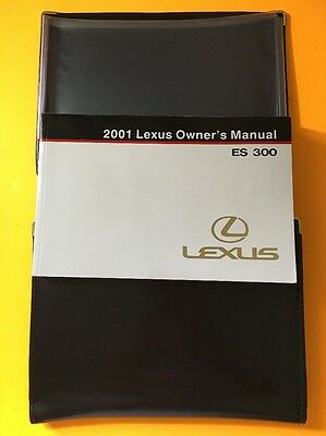2001 Lexus ES300 Owners manual with original case