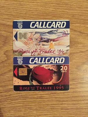 Telecom Eireann Callcards Rose of Tralee 1994 and 1995 20 Unit