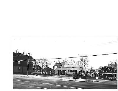 0917m  Two original photos of the same Flying A gas station in Rhode Island 1961