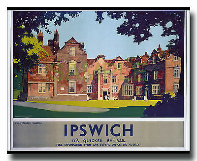 Repro LNER poster of Ipswich Christchurch Mansion Suffolk Fred Taylor