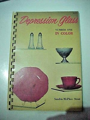 Depression Glass in Color Number One by Sandra McPhee Stout Spiral Bound 1970