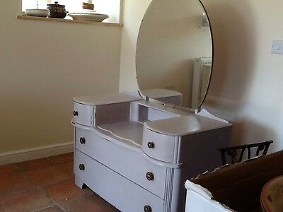 Reduced Vintage shabby chic dressing table with mirror