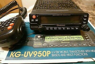 Wouxun KG-UV950P Quad Band FM Mobile Transceiver - 10 meters, 6 meters, 2 meters