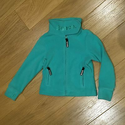 Bench Fleece Jacket 3-4 Years High Neck, Thumb Holes, Zip Pockets, Green, Winter