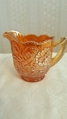 "Antique Northwood ""Grape & Cable"" Marigold Carnival Glass Sugar-Marked Rare"