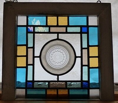Arts and crafts depression plate leaded stained glass window 1