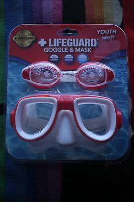 LIFEGUARD GOGGLE AND MASK youth ages 7 +