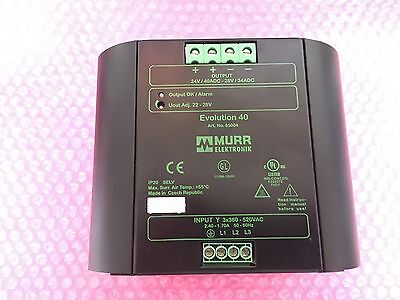 MURR ELEKTRONIK EVOLUTION 40   Art.No.: 85004  Power Supply 3 Phase 40A 24VDC