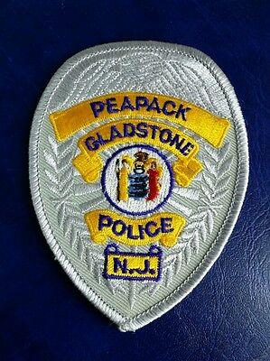 Peapack Gladstone, New Jersey Police Badge Shoulder Patch Nj