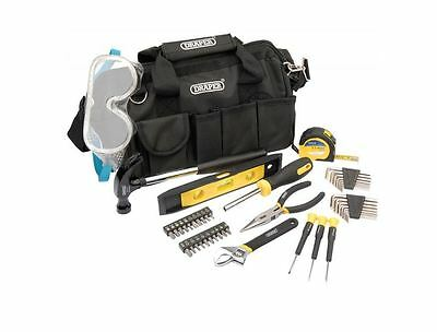 Draper DIY Tool Kit 46 Piece Set With Storage Bag. Hammer Screwdrivers Plier NEW