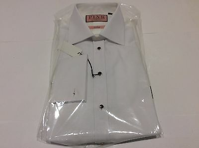Thomas Pink Marcella Wedding Formal Tuxedo Stud Button Dress Shirt Size 15