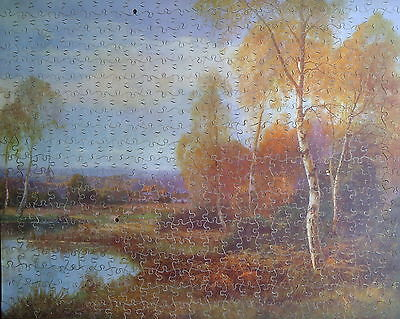 vintage wooden jigsaw puzzle