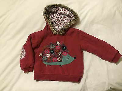 Girls TU Thick Fleece Lined Winter Hoody 3-4 Years Hedgehog Fur Trim