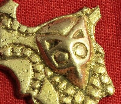 Rare Migration Period Silver Belt Buckle - Fox Head