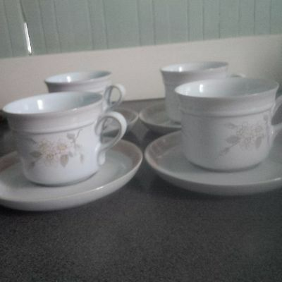 Denby Normandy Cups and Saucers set of 4