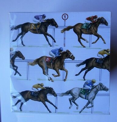 Horse Racing Full Size Padblocks Note Paper  Phone Pad Wrapped A great gift!