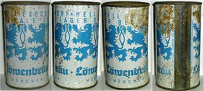 Old And Rare Lowenbrau Bier Flat Top From Germany