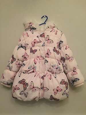 MARKS & SPENCER Butterfly Puffa Coat/Jacket - Size 5-6 Years
