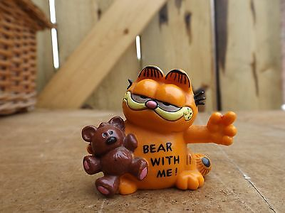 vintage old 1981 bully germany Garfield plastic model figure