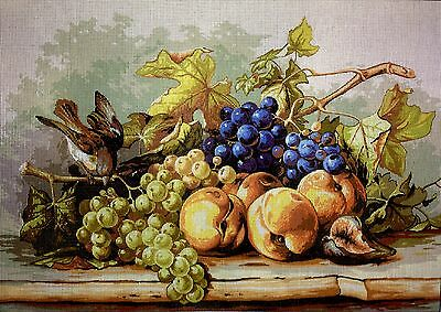 """Tapestry Gobelin Needlepoint Kit""""Fruits""""printed canvas craft hand embroidery 211"""