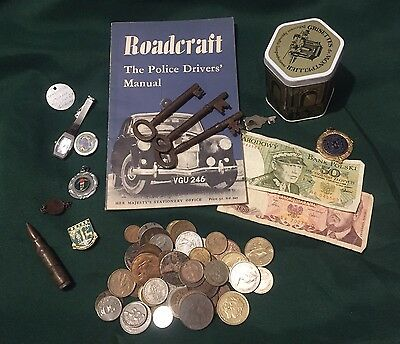 Mixed Lot Of Old Coins, Keys & Curios, ect