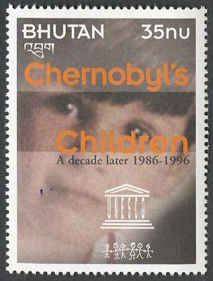 Bhutan - 10th anniversary of Chernobyl Nuclear Disaster - MNH stamp