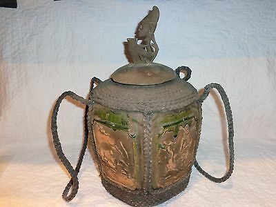 Antique/Vintage Asian/African Pottery Storage Vessel/Jar with Rope Wrapping