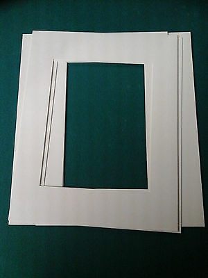 Lot of 10 11x14 White Mats for 8x10 Pictures New Photo with Bags and Boards