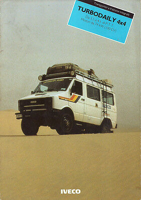 Brochure Dépliant Camion Truck Iveco Turbo Daily 4x4 1987 Italiano
