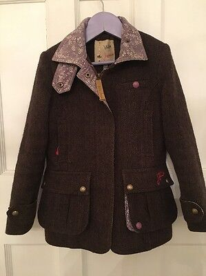girls little joules tweed  jacket/coat 6 years good condition