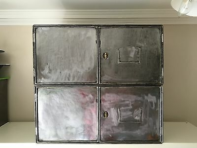Vintage Industrial Chests Storage WW2 Medical Trunk