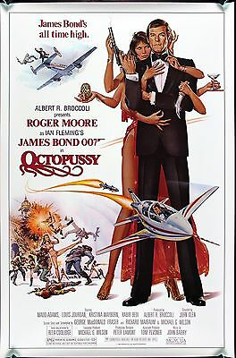 """OCTOPUSSY 1983 Original US one sheet Poster 27x41"""" undisplayed rolled James Bond"""