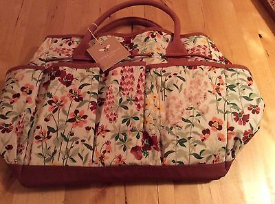 BNWT New Laura Ashley Wild Meadow Gardener's Bag with Tools - Fork Trowel