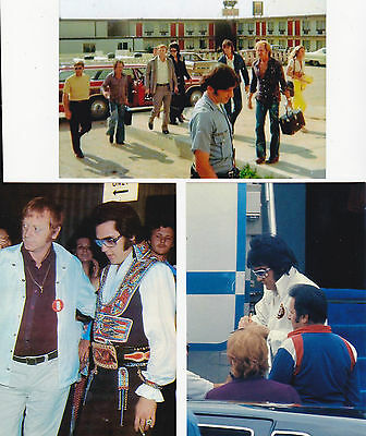 Elvis - rare off stage 70's candid photos, set of 5