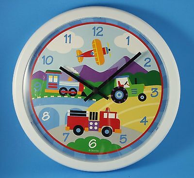 Older Wall Clock Olive Kids: Trains, Planes, Trucks GREAT CONDITION, Made in USA