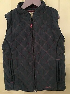 Girls Light Blue Joules Gilet Age 8