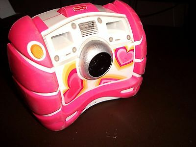 ✨  PINK HEARTS Fisher-Price Kid Tough Digital Camera With FLASH