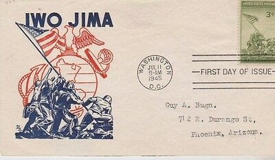 First day of issue, 1945, Iwo Jima, WWII Scott # 929