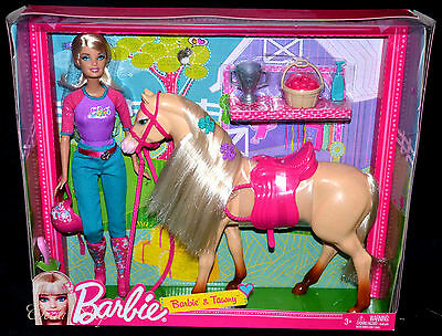 Barbie And Tawny Horse At Stable Gift Set