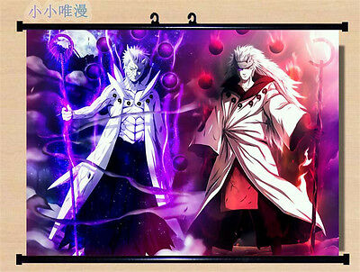 60*80 cm Wall Decor Poster Scroll Naruto Shippuden Uzumaki Uchiha Obito Madara