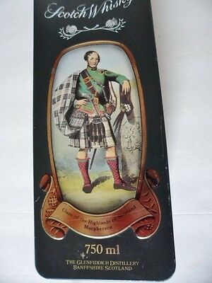 Vintage Glenfiddich Whisky Tin Clans Of Scotland Macpherson