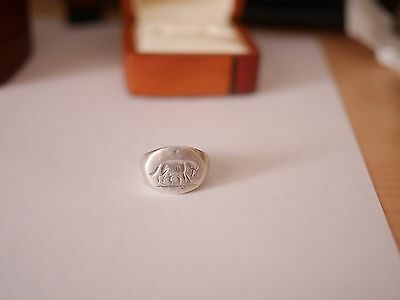 Ancient Roman Silver Ring - Romulus and Remus • CAD $574.09