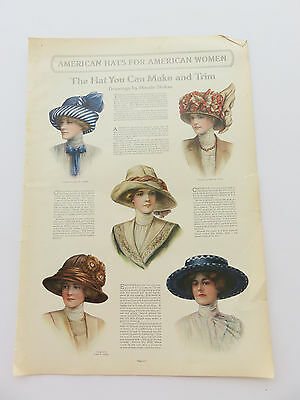 Vintage Hats You Can Make Maude Stokes Musselman Fashions Ladies Home Journal