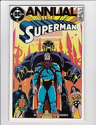 "Superman Annual #11 Vf+ Mongul Alan Moore ""for The Man Who Has Everything"" Dc"