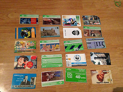 20 Random Phonecards From Various Places ,,please See Pics...